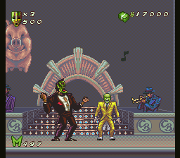 The Mask (SNES) -- Stanley fights Dorian and both have Masks