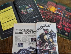 Double-page video game ads