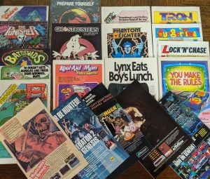 Video game advertisements on the back covers of various comics