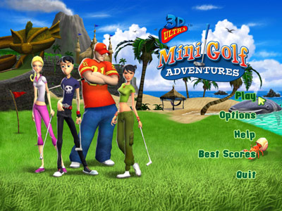 3D Ultra Mini Golf Adventures -- Title Screen
