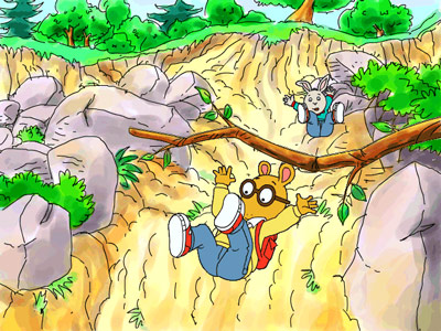 Arthur's Wilderness Rescue — rockslides are a blast!