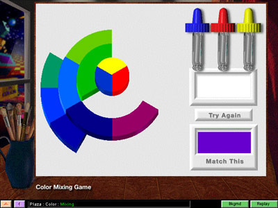 Artrageous! Color Mixing Game