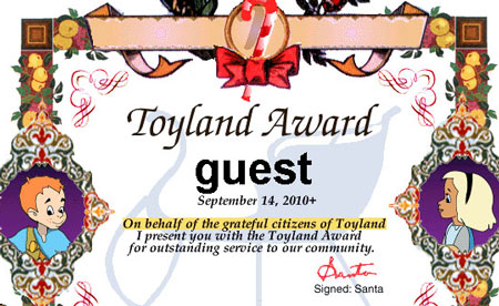 Babes in Toyland -- Certificate from Santa