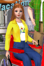 Detective Barbie 2 -- Kelly in a wheelchair