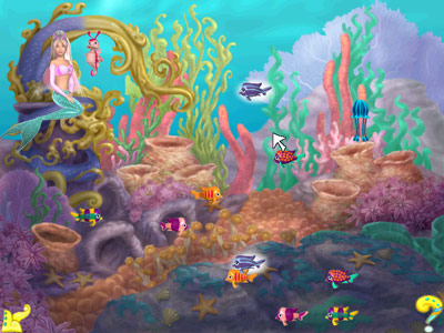 Barbie Mermaid Adventure -- Matching fish game