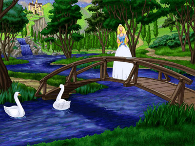 Barbie as Princess Bride -- musical interlude on a bridge