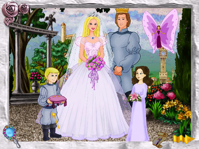 Princess Barbie and Prince Ken -- wedding photo