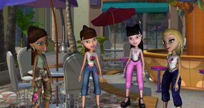 Bratz: Rock Angelz — The main characters: Jade, Sasha, Chloe, and Yasmin