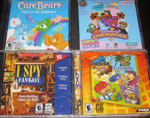 Care Bears; Gus Goes To Cyberopolis; I Spy Fantasy; Extreme Arcade Games