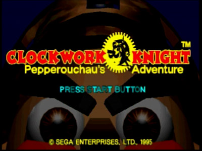 Clockwork Knight Title Screen