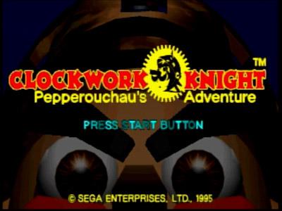 Clockwork Knight Title Screen