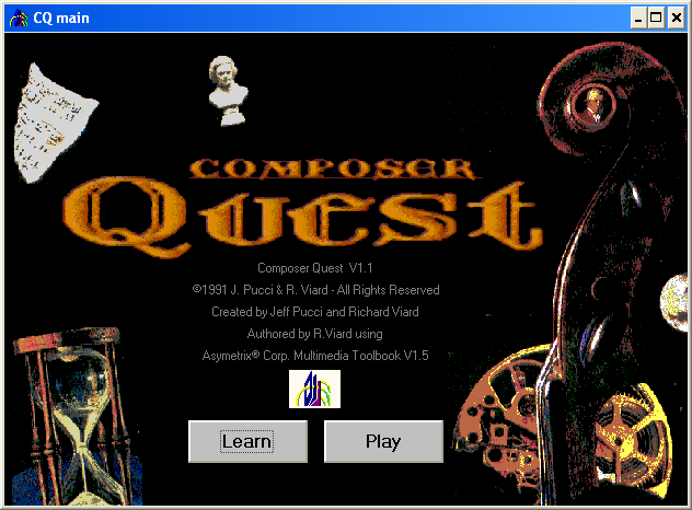 Composer Quest Title Screen