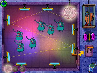 Cyberchase: Castleblanca Quest -- Disco mirrors