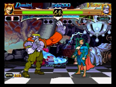 Darkstalkers' Revenge: Demitri vs. Victor