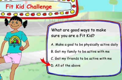 Dole's 5-A-Day Adventures -- Fit Kid Challenge