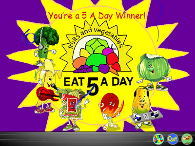 Dole's 5-A-Day Adventures -- A winner is me