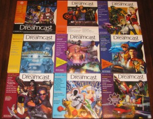 Lot of 9 volumes of the Official Sega Dreamcast Magazine