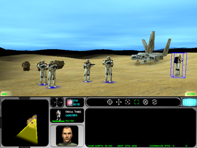 Star Wars: Force Commander -- Main screen
