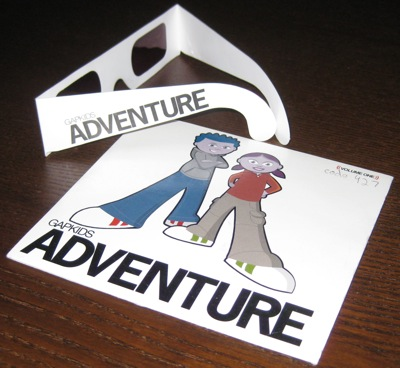 GapKids Adventures -- Game sleeve and red-tinted glasses
