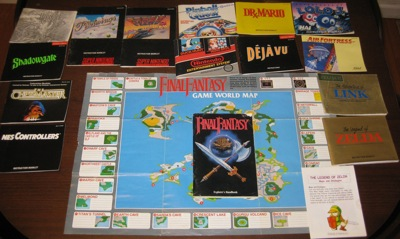 Lot of NES and SNES manuals and maps