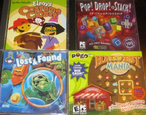 Elroy's Costume Closet; Pop Drop and Stack; Lost & Found; Harvest Mania
