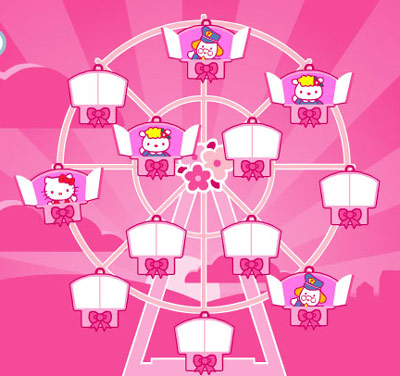 hello kitty and friends pics. Hello Kitty Dream Carnival — Ferris Wheel Friends
