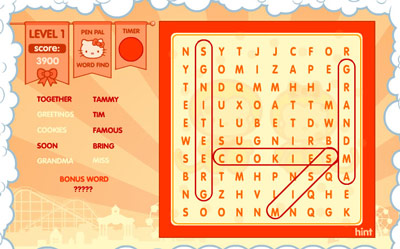 Hello Kitty Dream Carnival — Pen Pal Word Find
