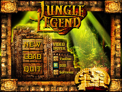 Jungle Legend Main Menu