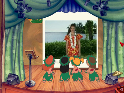 Disney's Lilo & Stitch Hawaiian Adventure — Hula lesson