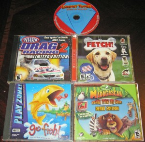 NHRA Drag Racing 2; Fetch!; Go Fish!; Madagascar DVD Game