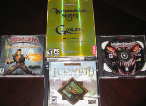 Neverwinter Nights Gold; Icewind Dale; 2 Might and Magic titles