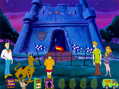 Scooby Doo: Phantom of the Knight -- flag puzzle