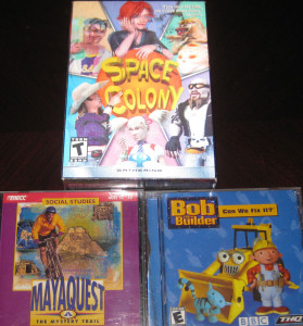Space Colony; MayaQuest; Bob the Builder