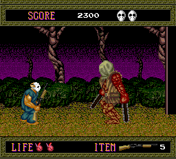 Splatterhouse -- Chainsaw boss