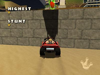 Bikini Beach Stunt Racer -- Strange shadow