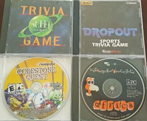 Sci-Fi Channel Trivia Game; Dropout Sports Trivia Game; Codestone Quest; Africa Scavenger Hunt