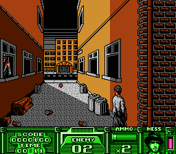 The Untouchables (NES) -- Alley shootout