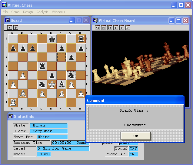 Virtual Chess - I lose